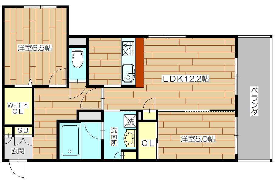 シャーメゾンフォレナ03号室の間取り図