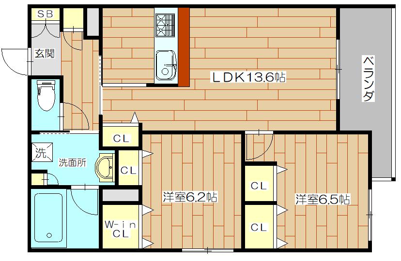シャーメゾンフォレナ05号室の間取り図