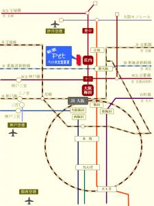 交通アクセス図 LANITOYONAKA